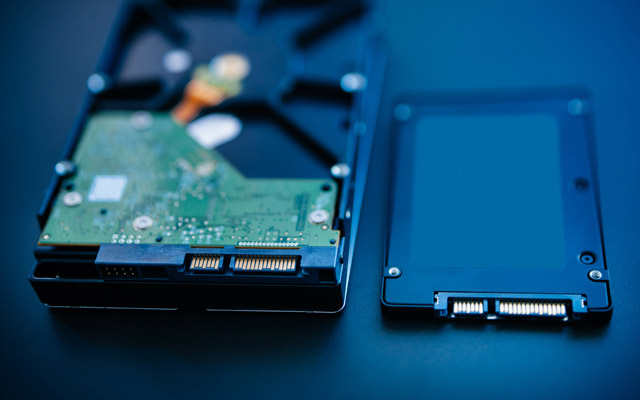 SSD in HDD disk