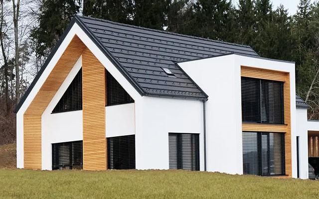 CLT masivna lesena montažna hiša