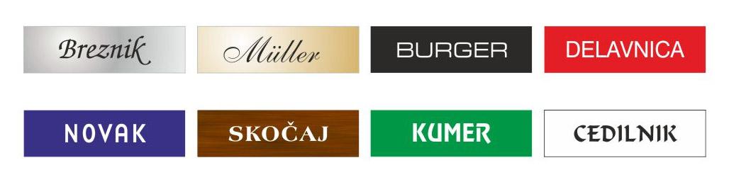Gravirane tablice za označevanje